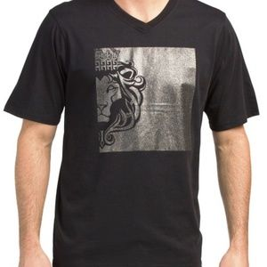 Versace 19V69 Italy Glitter Print Lion Graphic Tee